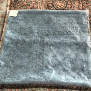 """Pottery Barn Pillow Cover 22"""" x 22"""" Romilly Blue"""